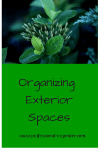 organize outside organize exterior space