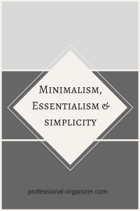 minimalism, essentialism and simplicity