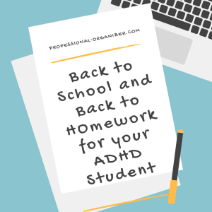 Back to school and back to school for ADHD student