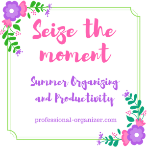 summer organizing and productivity