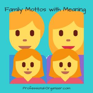 Family mottos family values