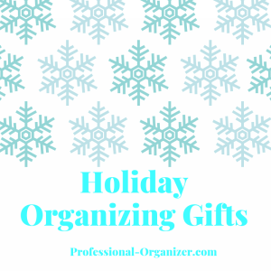 Holiday organizing gifts