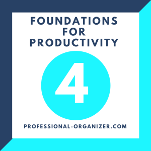 4 foundations for productivity