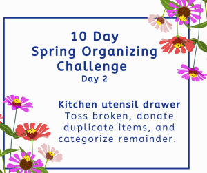 spring organizing challenge utensil drawer