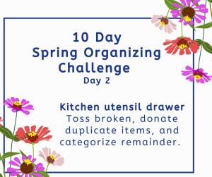 spring organizing challenge utensil drawer