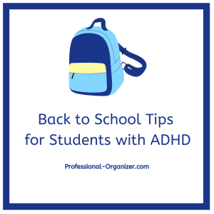 Back To School Tips for Students with ADHD