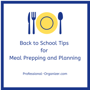 Back to school meal prep and planning