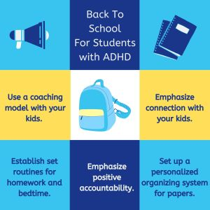 Back to School Tips for Students with ADHD graphic
