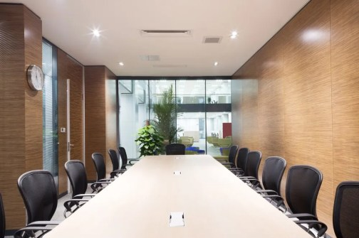 clean boardroom with chairs