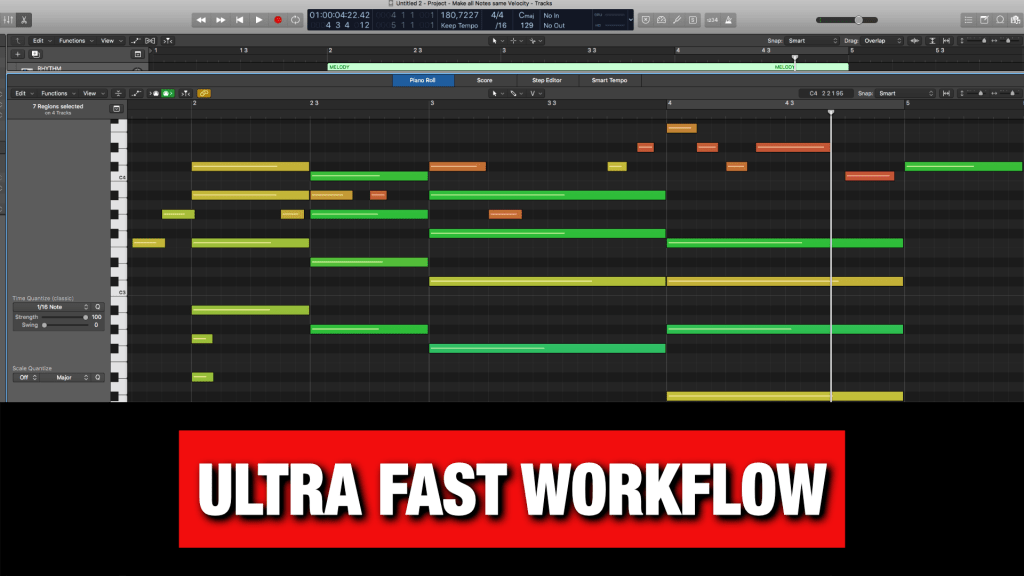 Ultra Fast Workflow in Logic Pro X