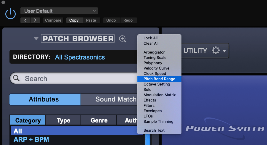 Omnisphere Sound Lock Feature