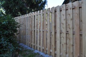 Shadow Box Wooden Fence