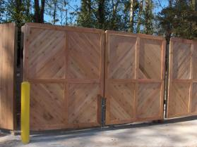 Custom Wooden Dumpster Pad Gates