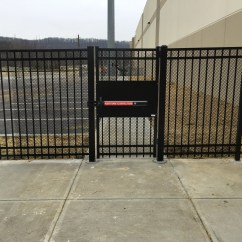 Panic Bar on Ornamental Pedestrian Gate