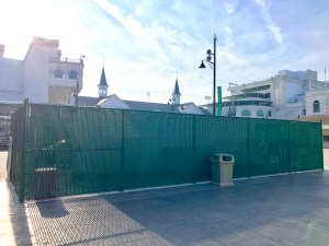 Vinyl Coated Chain Link Fence at Churchill Downs