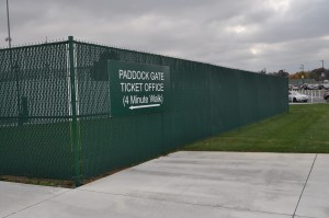 Chain Link Fence with Privacy Slats at Churchill Downs