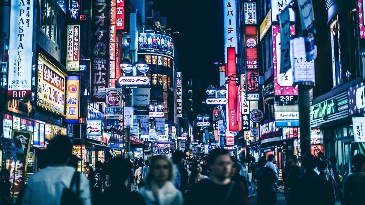 Crowds in Tokyo, Japan