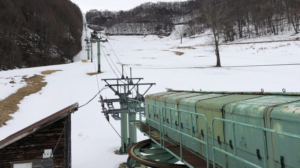 Abanoned chairlift in Gunma