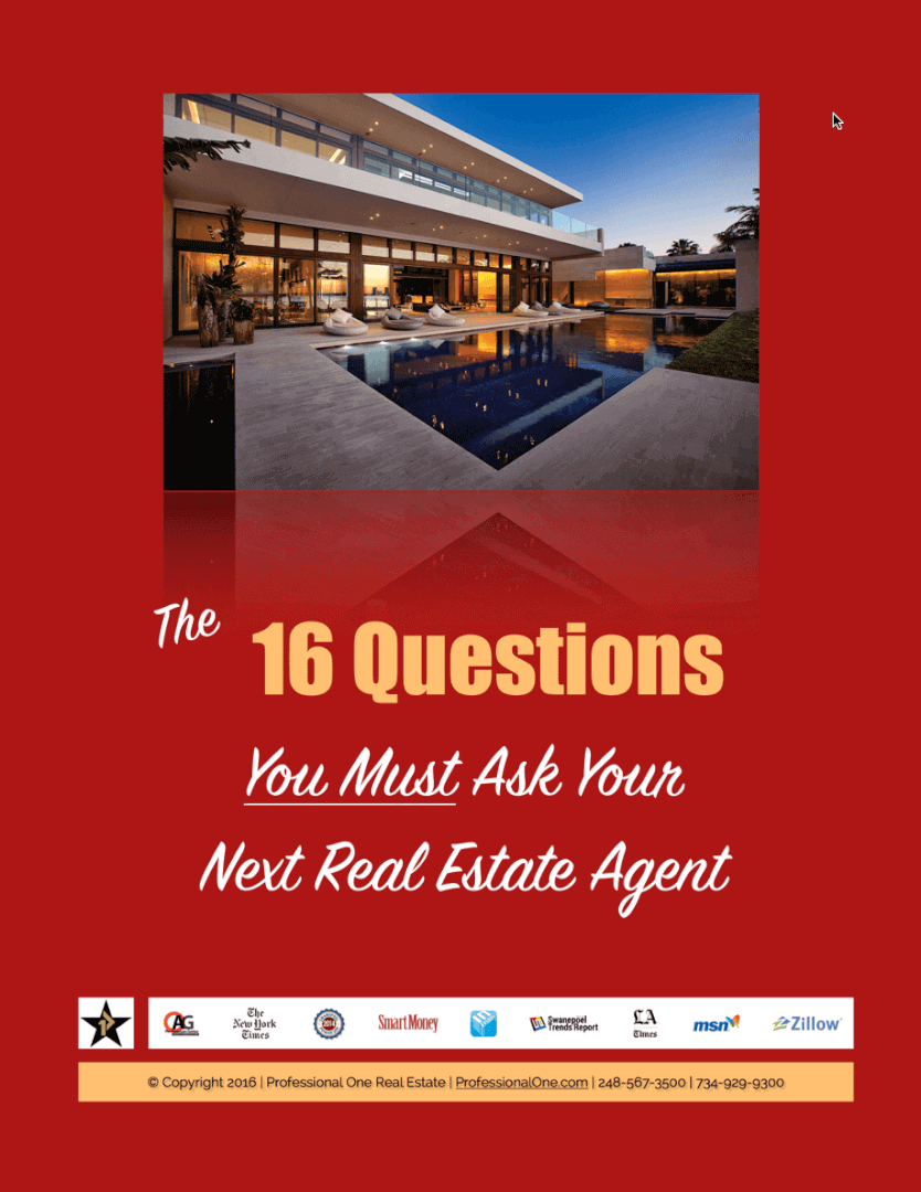 """when selling a home or buying a home, these are the """"16 questions your must ask your next real estate agent"""""""