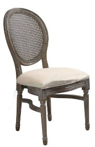 King Louis Chair- w/ Rattan Back  Professional Party Rentals