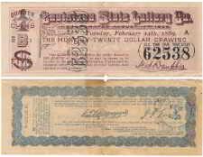 Louisiana Lottery Ticket - 19th Century