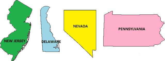 Four Regulated Internet Gaming States
