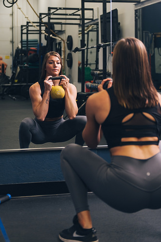Kettlebell Squat Enhances Core Conditioning