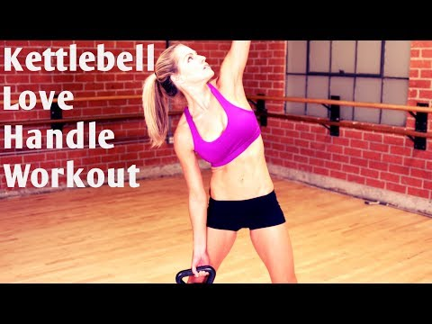 10 Minute Kettlebell Love Handle Workout for Strong Abs and Core