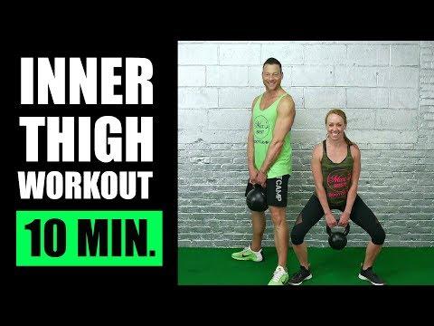 10 MINUTE INNER THIGH SCULPTING KETTLEBELL WORKOUT | Inner Thigh Workout With Kettlebell Workout routines