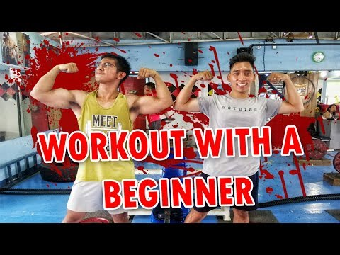 Workout with a BEGINNER | Will he live to pronounce the tale? | Jongie Coarse