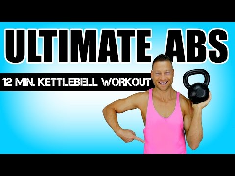 ULTIMATE KETTLEBELL AB WORKOUT | 12 Minute Kettlebell Exercise With Abs Exercises For A Flat Abdomen
