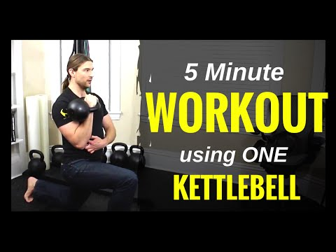 5 Minute Workout The use of ONE Kettlebell
