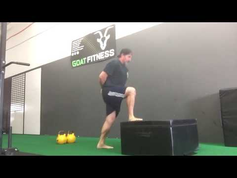 Kettlebell Complex Training: Double KB Swing & 1/4 Flip Box Jumps for Post-Activation Potentiation