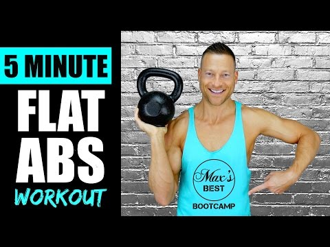 5 MINUTE KETTLEBELL ABS WORKOUT FOR A FLAT STOMACH   Fleet Kettlebell Abs Workout Routine 1