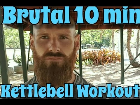 Brutal 10 minute Kettlebell Sigh, HIIT Handy