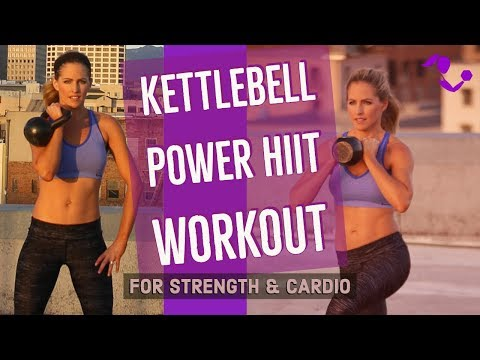 36 Minute Paunchy Physique Kettlebell Power HIIT Workout for Power & Cardio