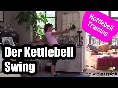 Kettlebell Übungen:  Der Kettlebell Swing | Kettlebell Practising deutsch – Effektive Fettverbrennung