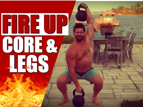 Leg & Core Shredding Kettlebell Routine [Burns Fat & Builds POWER!] | Chandler Marchman
