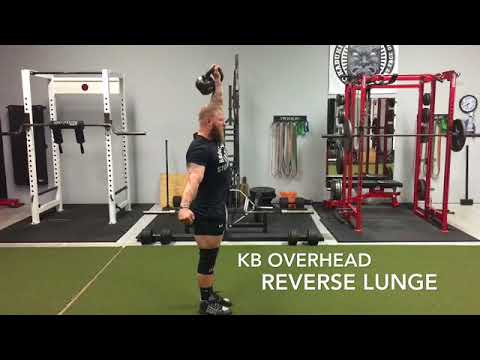 Kettlebell Overhead Reverse Lunge