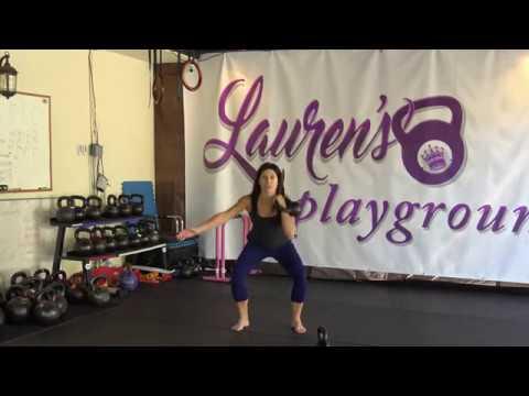 5 Minute Kettlebell Exercise by Lauren Brooks