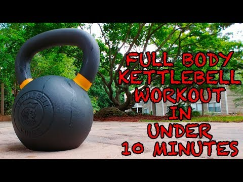 Full-Physique Kettlebell Workout in Under 10 Minutes