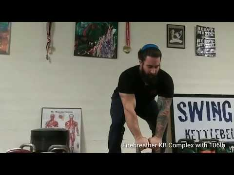 Heavy Kettlebell Workout : The FireBreather Complex with 48kg