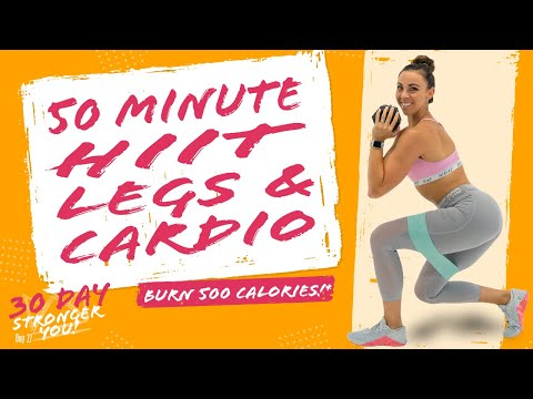 50 Minute HIIT LEGS AND CARDIO WORKOUT 🔥Burn 500 Energy!* 🔥Sydney Cummings