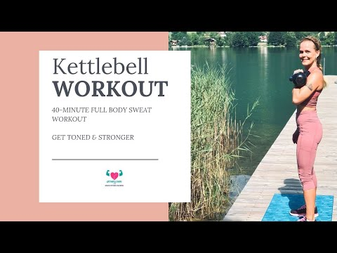Kettlebell Sweat Exercise For Home Health I 40 Minute Class With Music By 2FitnessLovers