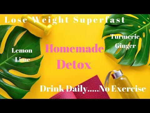 Lose Weight Superfast with this Lemon, Lime, Ginger, Turmeric Detox Tea
