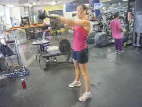 Kettlebell swing – Sooner than & After – 8 weeks