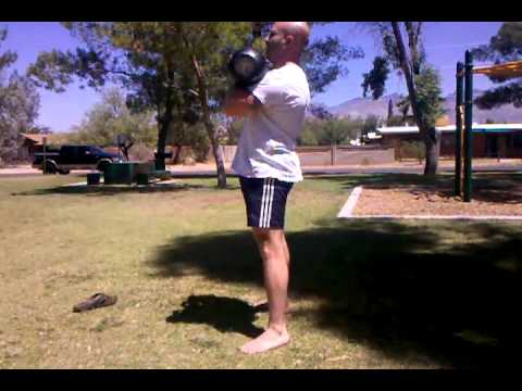 Litvinov Workout with Kettlebell entrance squats, Evolution Health Tucson