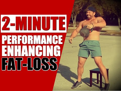 KILLER 2-Minute Kettlebell Cardio Routine [Burn Fat FAST!] | Chandler Marchman