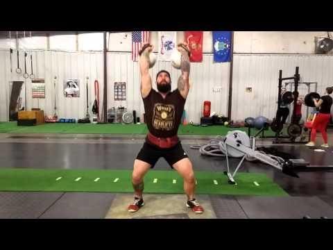 Abet to Heavy Kettlebell Jerks 2x40kg Joe Daniels