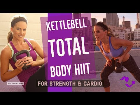 35 Minute Kettlebell Total Physique HIIT Yelp for Energy & Cardio